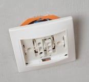 Installation home wiring Stock Photos