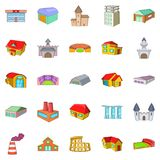 Installation icons set, cartoon style Stock Images