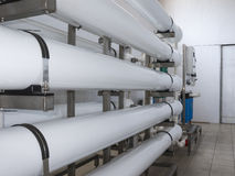 installation of industrial membrane devices Stock Image