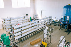 Installation of industrial membrane devices. Water treatment based on reverse osmosis system royalty free stock images