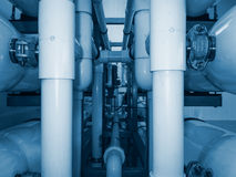 Installation of industrial membrane devices Stock Photos