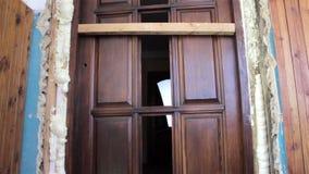 Installation of interior doors stock footage