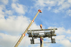 Installation of lifts Royalty Free Stock Photography