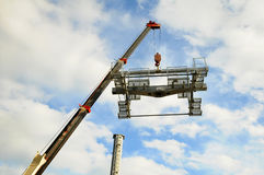 Installation of lifts Royalty Free Stock Photo