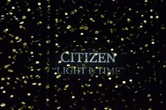 Installation Light is Time by Citizen at Triennale di Milano Stock Photography
