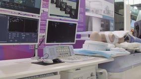 Installation médicale d'ordinateur Soins de santé, purification de sang, insuffisance rénale, transplantation, matériel médical photo libre de droits