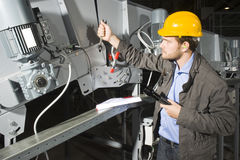 Installation mechanic stock photo
