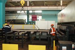 Installation of metal preparation Stock Photos