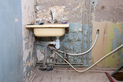 Installation of a new water supply system Royalty Free Stock Photos