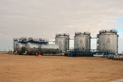 Installation of oil collection. Stock Photography