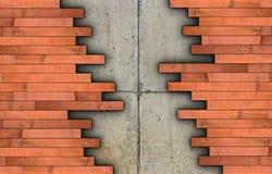 Installation of parquet on concrete floor Stock Image