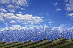 Installation photovoltaïque images libres de droits