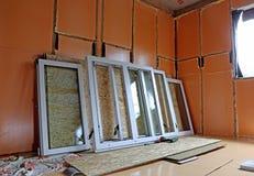 Installation of plastic windows Stock Photography