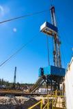 Installation pour des puits de pétrole et de gaz de perçage Images stock