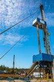 Installation pour des puits de pétrole et de gaz de perçage Photos stock