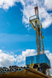 Installation pour des puits de pétrole et de gaz de perçage Photo libre de droits
