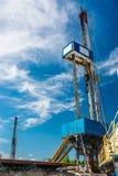 Installation pour des puits de pétrole et de gaz de perçage Image stock