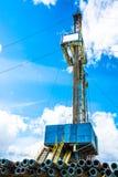 Installation pour des puits de pétrole et de gaz de perçage Photographie stock
