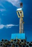 Installation pour des puits de pétrole et de gaz de perçage Images libres de droits
