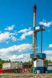 Installation pour des puits de pétrole et de gaz de perçage Photos libres de droits