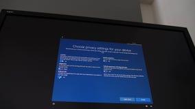 Installation process of Microsoft Windows 10 NEC Spectraview display