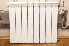 Installation of radiator Royalty Free Stock Photography
