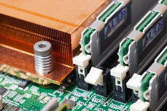 Installation of RAM on Computer Royalty Free Stock Images