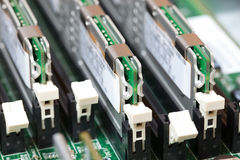 Installation of RAM on Computer Royalty Free Stock Photos