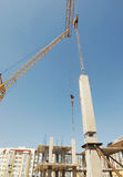Installation of reinforced concrete structures Stock Image