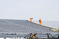 Installation of solar panels Royalty Free Stock Images