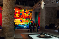 Installation view of work by Sheila Hicks's Escalade Beyond Ch Royalty Free Stock Image