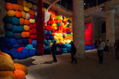 Installation view of work by Sheila Hicks's Escalade Beyond Ch Royalty Free Stock Photography