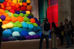 Installation view of work by Sheila Hicks's Escalade Beyond Ch Royalty Free Stock Photos
