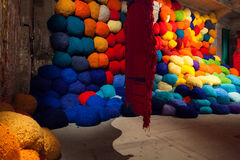 Installation view of work by Sheila Hicks's Escalade Beyond Ch Stock Images