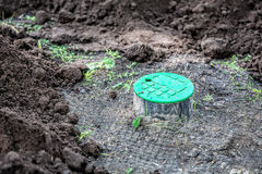 Installation of watering system Stock Images