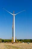 Installation of a wind turbine in wind farm construction site. View of Installation of a wind turbine in wind farm construction site Stock Image