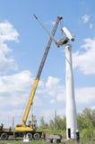Installation of a wind turbine Stock Photo