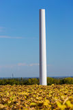 Installation of a wind turbine in wind farm construction site. View of Installation of a wind turbine in wind farm construction site Royalty Free Stock Photo
