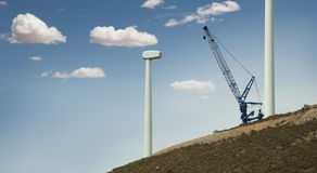 Installation of wind turbines Stock Photography