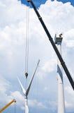 Installation of wind turbines Stock Photography