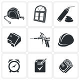 Installation of windows Icons set Stock Photography