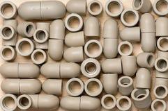 Installationen für Kunststoffrohre Stockbild