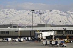 Installationer av den Salt Lake City flygplatsen Arkivbild