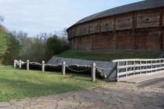 Installations défensives vieilles Photos libres de droits