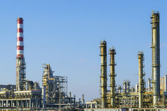 Installations of an oil and gas refinery Stock Image