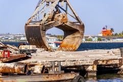 Installations portuaires industrielles images libres de droits