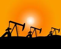 Installations pour la production de pétrole Image libre de droits