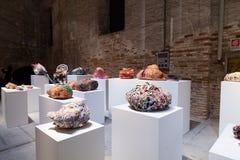 Installationssikt av arbetet av Judith Scott på den 57th Venedig Fotografering för Bildbyråer