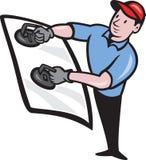 Installatore di vetro automobilistico royalty illustrazione gratis