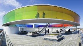 Installazione da olafur Eliasson sopra il museo di arte di Aarhus Immagini Stock Libere da Diritti